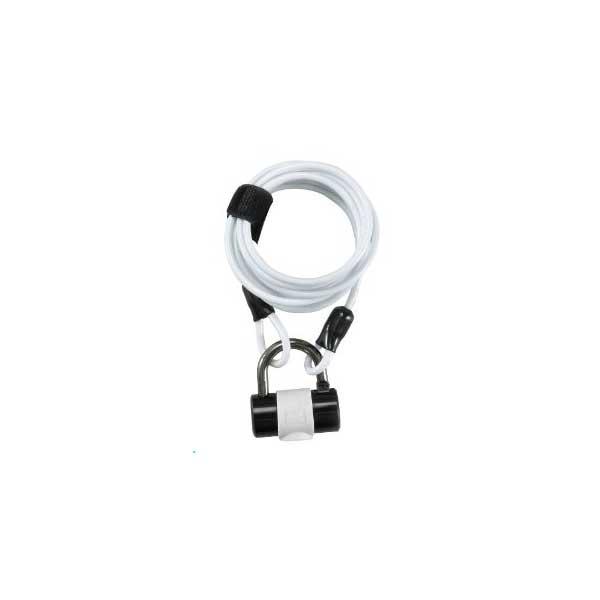 画像1: J&C 多機能コンパクトワイヤーロック 4×1800mm ホワイト