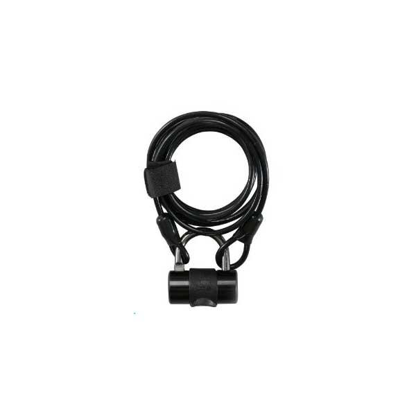 画像1: J&C 多機能コンパクトワイヤーロック 4×1800mm ブラック