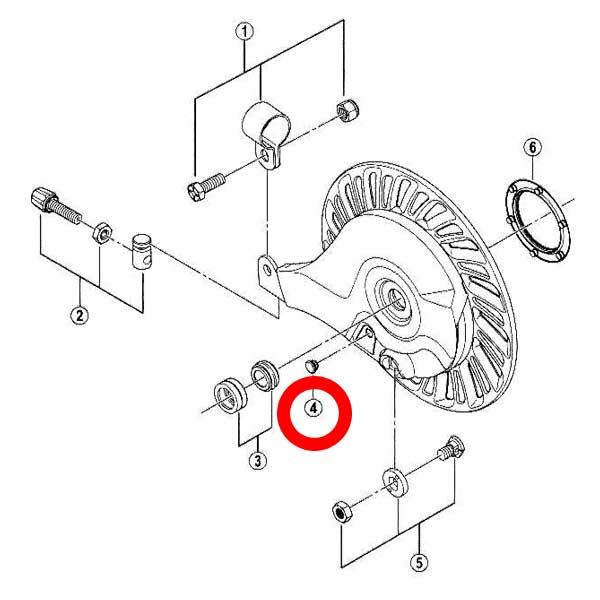 画像2: ローラーブレーキ用グリス穴キャップ 10個入 Y75F11000
