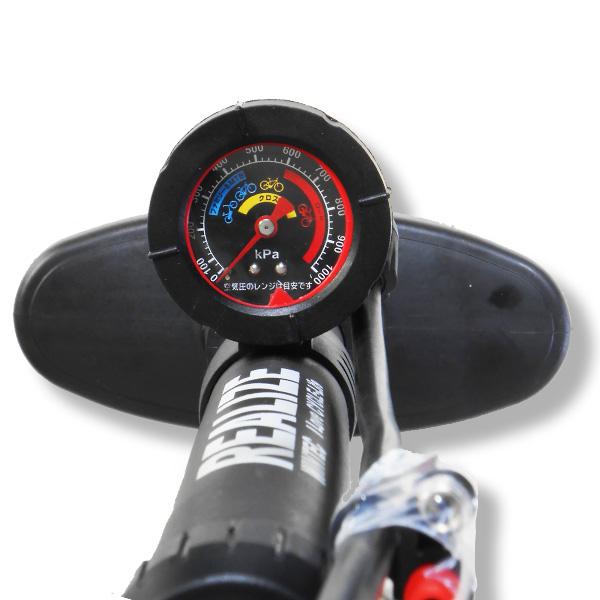 画像3: REALIZE リアライズ 空気圧ゲージ付 高圧プラポンプ 英・米・仏対応